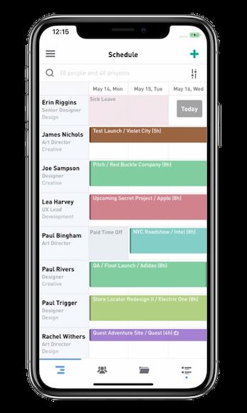 float resource scheduling app employee team management software